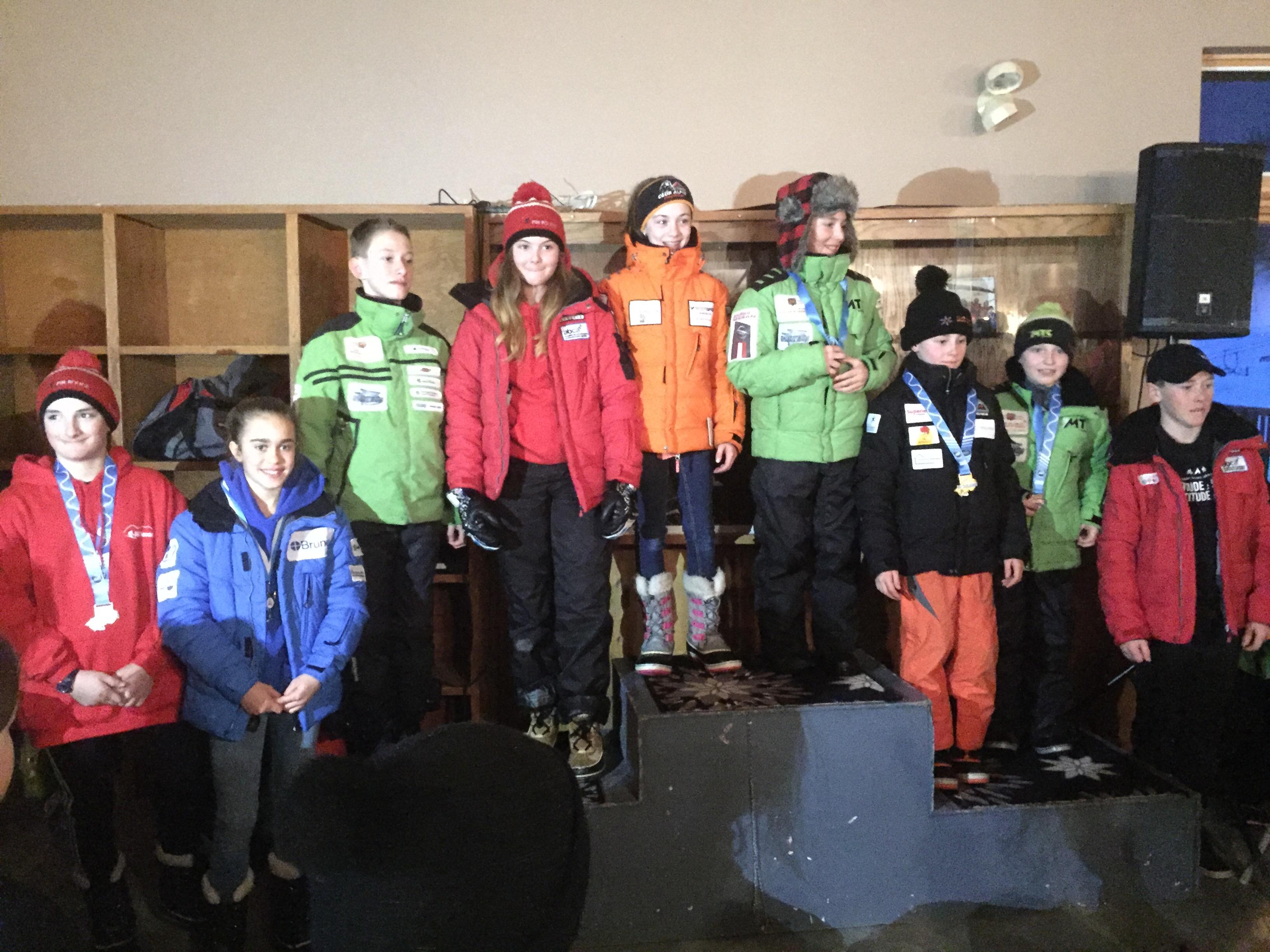 Athlètes sélectionnés pour représenter la Zone de Ski de l'Est du Québec au Championnat Provincial U12